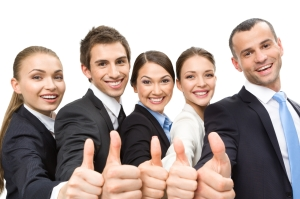 local-business-people-approve-with-their-thumbs